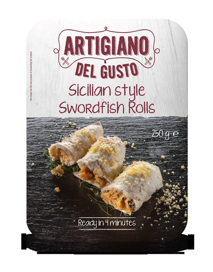 Sicilian style swordfish rolls